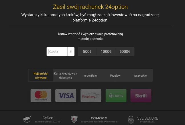 24 option płatności