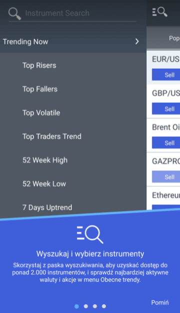 Markets.com app