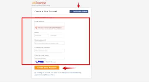 Aliexpress rejestracja