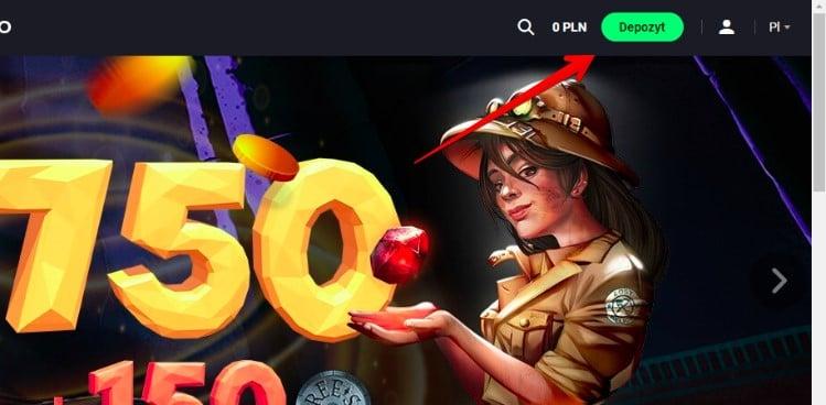 wplata krok 1 Joo Casino