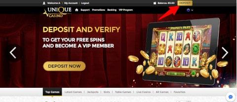 Unique Casino płatność