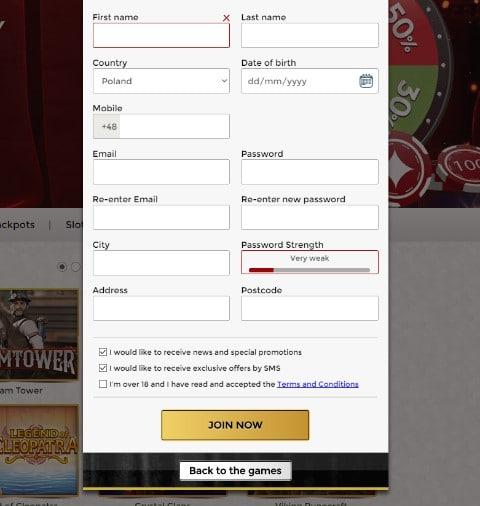 Unique Casino rejestracja