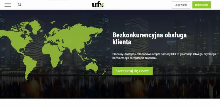 Wsparcie klienta na platformie UFX