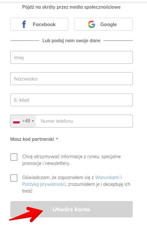 rejestracja w AvaTrade
