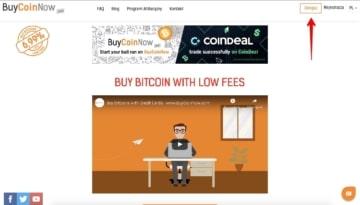 Rejestracja w BuyCoinNow