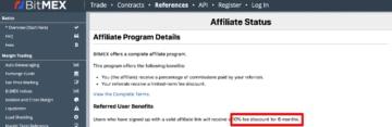 program afiliacyjny w BitMEX