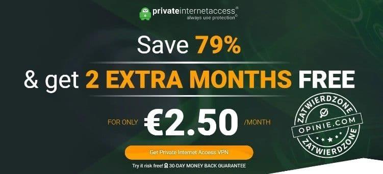 Bonus w Private Internet Access