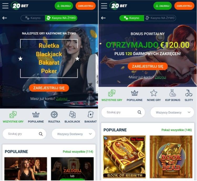 mobile casino 20bet