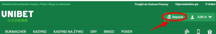 Wpłata 1 w kasynie Unibet Poker
