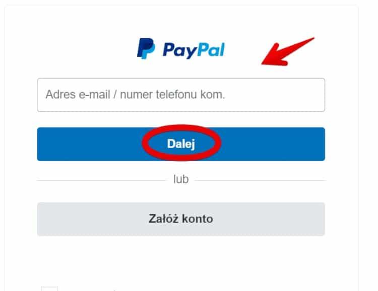 Wpłata PayPal 3 w STS