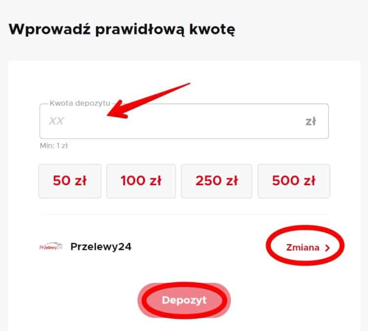 Wpłata 1 z Przelewy24